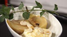 Vinkokte pærer med syltet ingefær