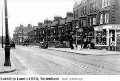 Photo of Tottenham, Lordship Lane London Pictures, London Photos, Old Pictures, Old Photos, Vintage Pictures, Vintage London, Old London, North London, East London