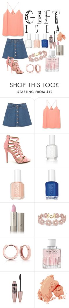 """Untitled #67"" by beloslavageorgieva ❤ liked on Polyvore featuring Monki, MANGO, Essie, BaubleBar, Bling Jewelry, Jimmy Choo, Maybelline and Bobbi Brown Cosmetics"