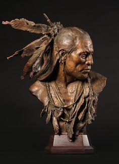 Artist: John Coleman - Title: 1832, Arikara Chief