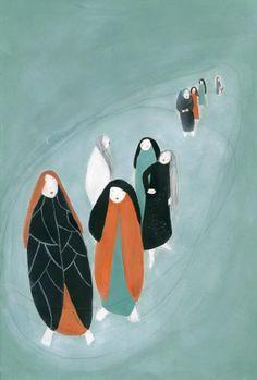 The Journey  original illustration on paper A4 size by jokamin, €120.00