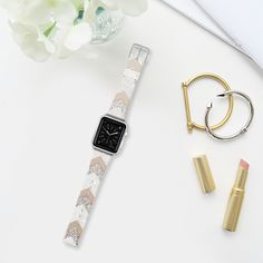 NUDE CHEVRON  by Monika Strigel - Apple Watch Strap - Casetify Band