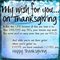 My Wish For You On Thanksgiving