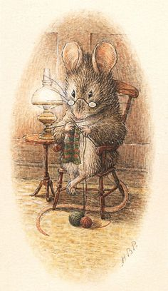 Beatrix Potter - Knitting with two colors!