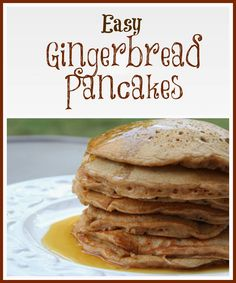 Gingerbread Pancakes: 1 box of spice cake mix , 1 tablespoon ground ginger (only if you're making gingerbread pancakes) , 1/2 cup flour , 2 eggs , 2 cups milk , 1/4 cup vegetable oil