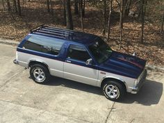 "I bought my 1986 Chevy S10 Blazer in November of 2014 and by November of 2015 I tore into it. Thanks to LMC Truck I was able to find a lot of the parts I needed to build my dream blazer. It has a steel cowl hood, a 2"" front & 3"" rear lowering kit, S10 Truck, Lifted Trucks, Chevy Trucks, Chevy S10 Xtreme, S10 Pickup, S10 Blazer, Chevrolet Blazer, Utility Trailer, Rv Trailers"
