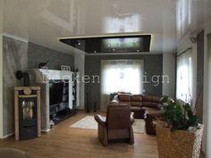 Fresh Wohnzimmerdecke renovieren mit Spanndecken Bildergalerie Design und Ausf hrung Spanndecken Fachgesch ft