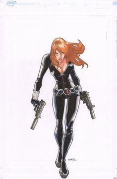 Humberto Ramos Art | Humberto Ramos - Black Widow Comic Art
