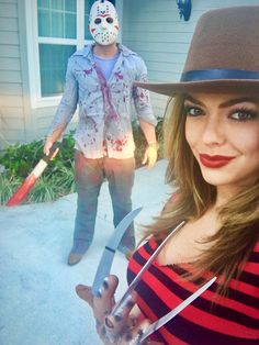 Freddy and Jason couples costume
