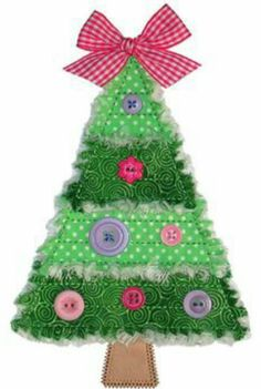 Rag Tree This Would Be A Great Project For Children Just Beginning To Use Sewing Machine Could Also No Sew Making And