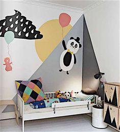 Kids Bedroom, Bedroom Decor, Decor Room, Wall Decor, Design Bedroom, Cool Kids Rooms, Kids Room Design, Deco Design, Kid Spaces