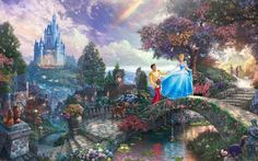 Beautiful Cartoon Fairytale Landscape Free HD Wallpaper