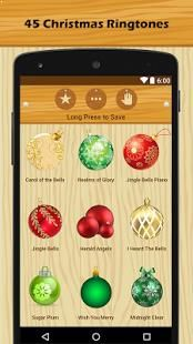 Press the Christmas-themed button to preview the loud and clear ringtone or sound.