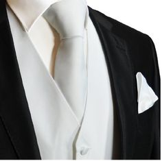 Solid White Mens Tuxedo Vest Set  http://www.yourneckties.com/solid-white-mens-tuxedo-vest-set/