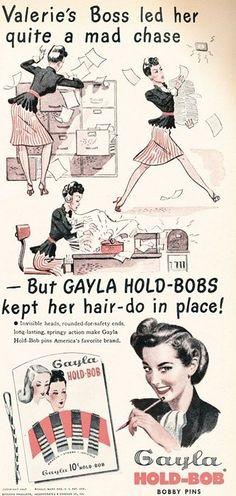 vintage hair ad