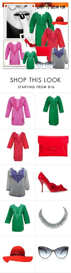 """""""womens boho hippie embroidered tunics"""" by era-chandok ❤ liked on Polyvore featuring Givenchy, Miu Miu, boho, hippie, embroidered, tunic and kurti"""