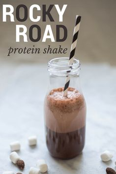 Rocky Road protein shake made with IdealLean protein for women!