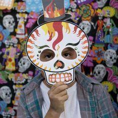 Dia de los Muertos Printable Photo Booth Props