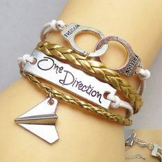 Retro One Direction Engraved Woven Bracelet