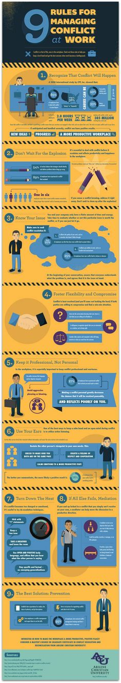 #Infographic: 9 tips to manage office conflicts