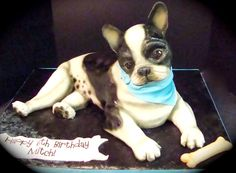 Crazy Cakes - no not those kind of 'cakes' - ClubLexus - Lexus Forum Discussion Crazy Cakes, Fancy Cakes, Cute Cakes, Fancy Desserts, Pretty Cakes, Yummy Cakes, Boston Terrier Cake, Boston Terriers, Bulldog Cake