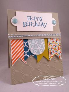 Happy Birthday Banner Card by absolutekreations - Cards and Paper Crafts at Splitcoaststampers