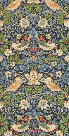 Shop William Morris Strawberry Thief Floral Art Nouveau Jewelry Box created by artfoxx. William Morris Wallpaper, William Morris Art, Morris Wallpapers, Art Floral, Craftsman Wallpaper, The Strawberry Thief, William Morris Patterns, Feature Wallpaper, Art Nouveau Jewelry