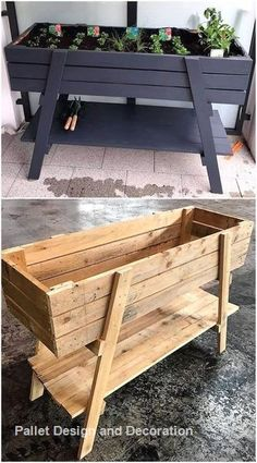 New projects for the reuse of wooden pallets, # wooden pallets … – Garden Projects Pallet Patio Furniture, Diy Garden Furniture, Furniture Projects, Painted Furniture, Antique Furniture, Bedroom Furniture, Diy Furniture From Pallets, Palette Garden Furniture, Playhouse Furniture