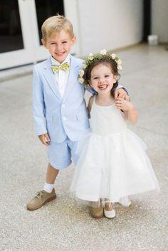 Pajem de paletó e bermuda - casamentos durante o dia