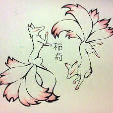 Kitsune Tattoo Design by TamaArisu.deviant… on Kitsune Tattoo Design by TamaArisu.deviant… on Fox Drawing, Drawing Sketches, Anime Tattoos, Body Art Tattoos, Cute Animal Drawings, Cute Drawings, Fox Art, Anime Animals, Japanese Art