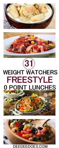 Weight Watchers Easy Make Ahead Zero Poi. - 31 fantastic satisfying Weight Watchers Freestyle 0 Point Lunch recipes for weight loss - Healthy Recipes, Ww Recipes, Healthy Drinks, Lunch Recipes, Healthy Snacks, Healthy Eating, Detox Drinks, Dinner Healthy, Cookbook Recipes