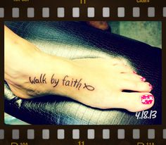 In loving memory of my precious Granny and in honor of my Dad and the amazing walk by faith I've had the pleasure of being a part of with him and my Mom. Dad Tattoos, I Tattoo, Tatoos, Funky Tattoos, Walk By Faith, Body Mods, Grief, Tatting, Body Art