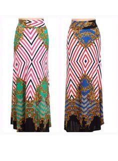 Versace print maxi skirt  Shannasthreads.com ( instagram Shannas_threads)