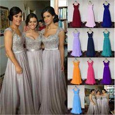 Royal Blue & cadbury purple wedding bridesmaid dress