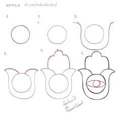 Hamsa Drawing, Hamsa Painting, Hamsa Art, Dot Art Painting, Mandala Drawing, Henna Patterns, Zentangle Patterns, Zentangles, Elementary Art