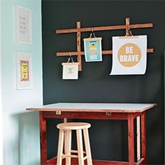 This DIY art hanging system is versatile, inexpensive and a cinch to put together.