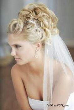 I want the veil to clip under but to be able to take it out after ceremony.