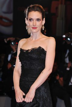 Winona Ryder wore HOL Vintage earrings to the Venice Film Festival premiere of 'The Iceman' August 30th