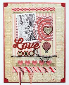 This beautiful layout by My Mind's Eye used the Lost & Found Record It Heirloom collection.