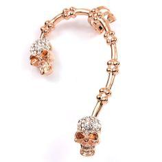 Rose Gold GP rhinestones Crystal swarovski skull women girl Ear Cuff z215 #Swarovski #Cuff