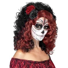 Day of the Dead Wig Adult Costume Accessory