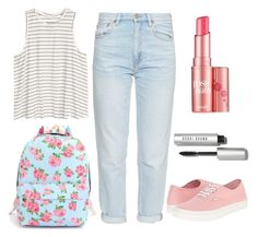 """""""Back to school - 1"""" by michaelalove3 on Polyvore featuring M.i.h Jeans, Vans, Benefit and Bobbi Brown Cosmetics"""