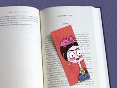 Frida Kahlo tribute illustrated bookmark from Nextlola. The Shop by DaWanda.com