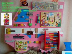 Busy board (@SensoryBoard)   Твиттер Montessori Education, Montessori Activities, Infant Activities, Baby Sensory Board, Sensory Boards, Sensory Wall, Toddler Boy Toys, Toddler Gifts, Baby Toys