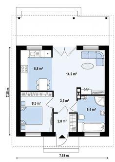 Проект одноэтажного дома с крытой террасой - Z60