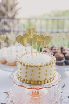 Heart-shaped or monogram picks in cakes or other desserts | photo by Jessica Barley of A Darling Day