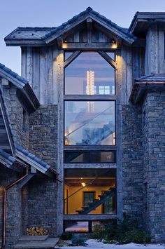 ABSOLUTELY LOVE HEE COMBINATION OF STONE AND BEAMS & the windows