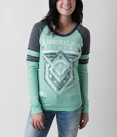 American Fighter Kendrick T-Shirt - Women's T-Shirts in Mint Charcoal Tees For Women, Shirts For Girls, Girl Outfits, Cute Outfits, Fashion Outfits, American Fighter Shirts, Affliction Clothing, Cute Shirts, Women's Shirts