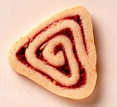 Slice and bake cookies take on a new shape here. Use canned pie filling to get a jump-start on this triangle-shaped cookie recipe.