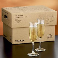 Thrifty champagne flutes for mimosas. Cost Plus World Market